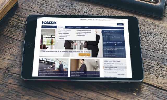Kaba website design