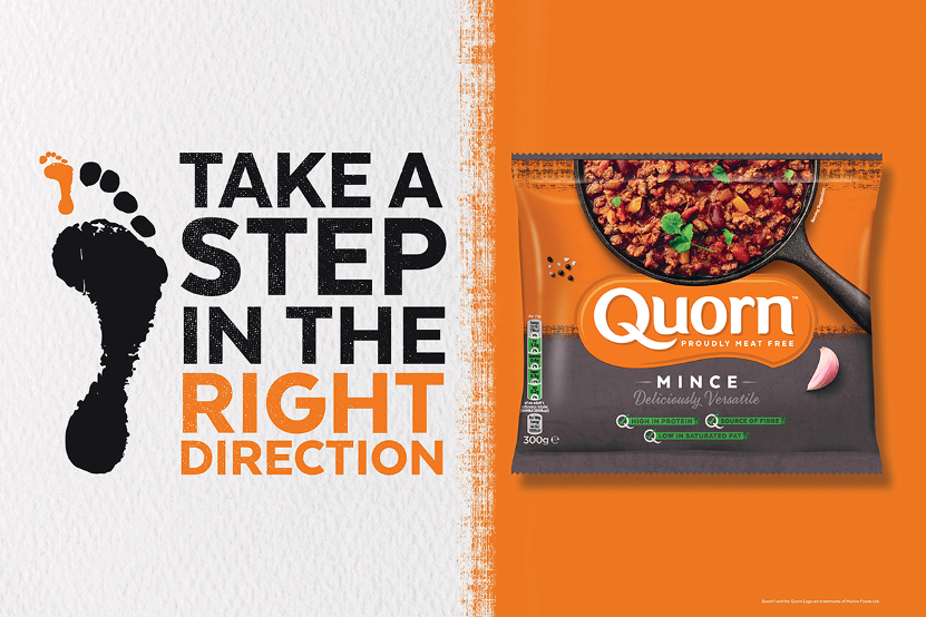 Quorn's 'Take a Step in the Right Direction' campaign